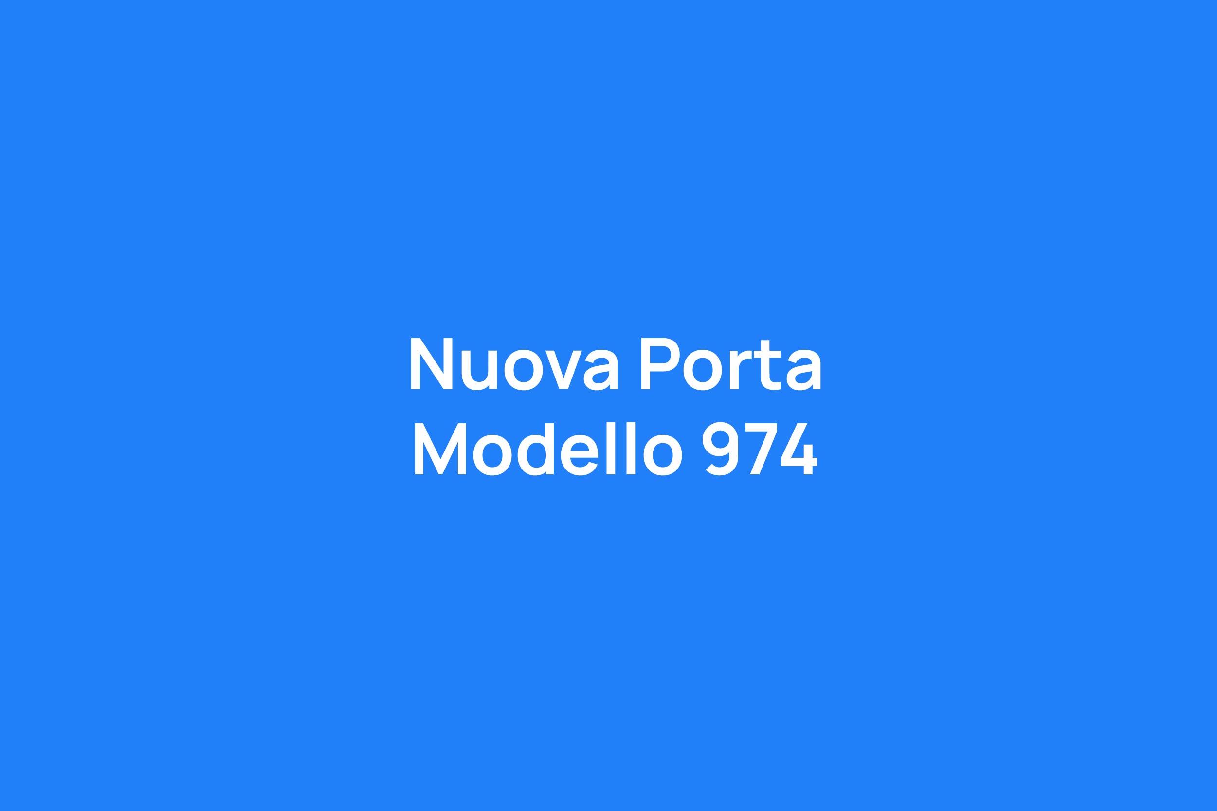 Porta Modello 974